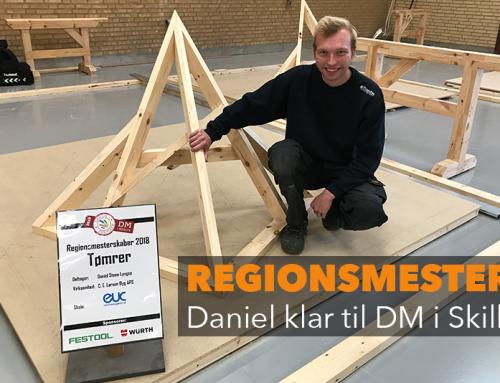 Tømrer Daniel Steen Lyngsø klar til DM i Skills